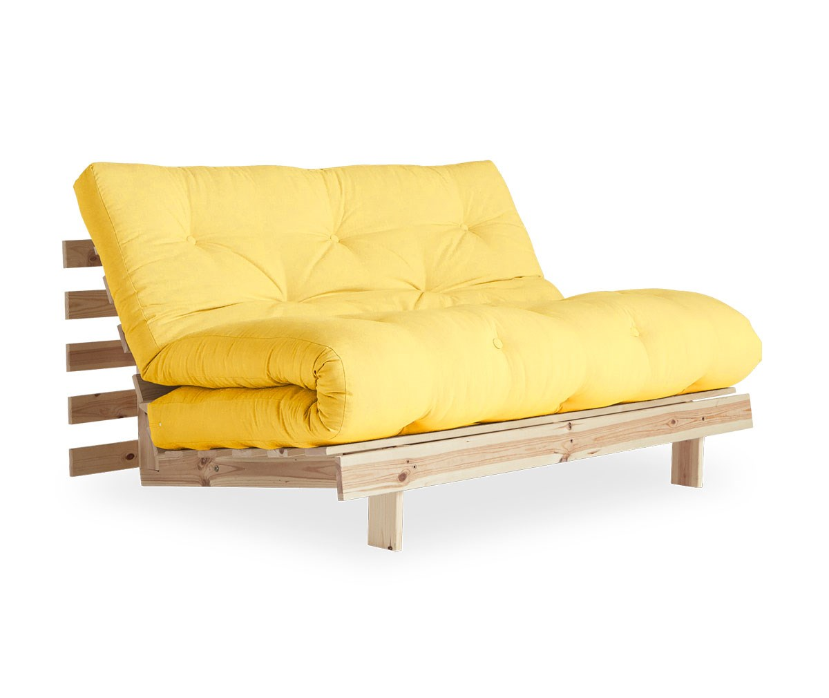 Karup Design Roots-futonsohva yellow/mänty, L 140 cm
