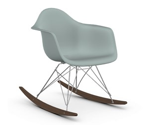 Eames RAR -keinutuoli, light grey/kromi/tumma vaahtera