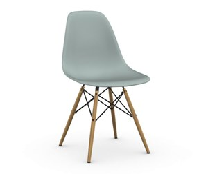 Eames DSW -tuoli, light green/hunajasaarni