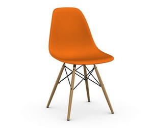 Eames DSW -tuoli, rusty orange/hunajasaarni