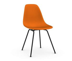 Eames DSX -tuoli, rusty orange/musta
