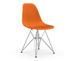 Eames DSR -tuoli, rusty orange/kromi