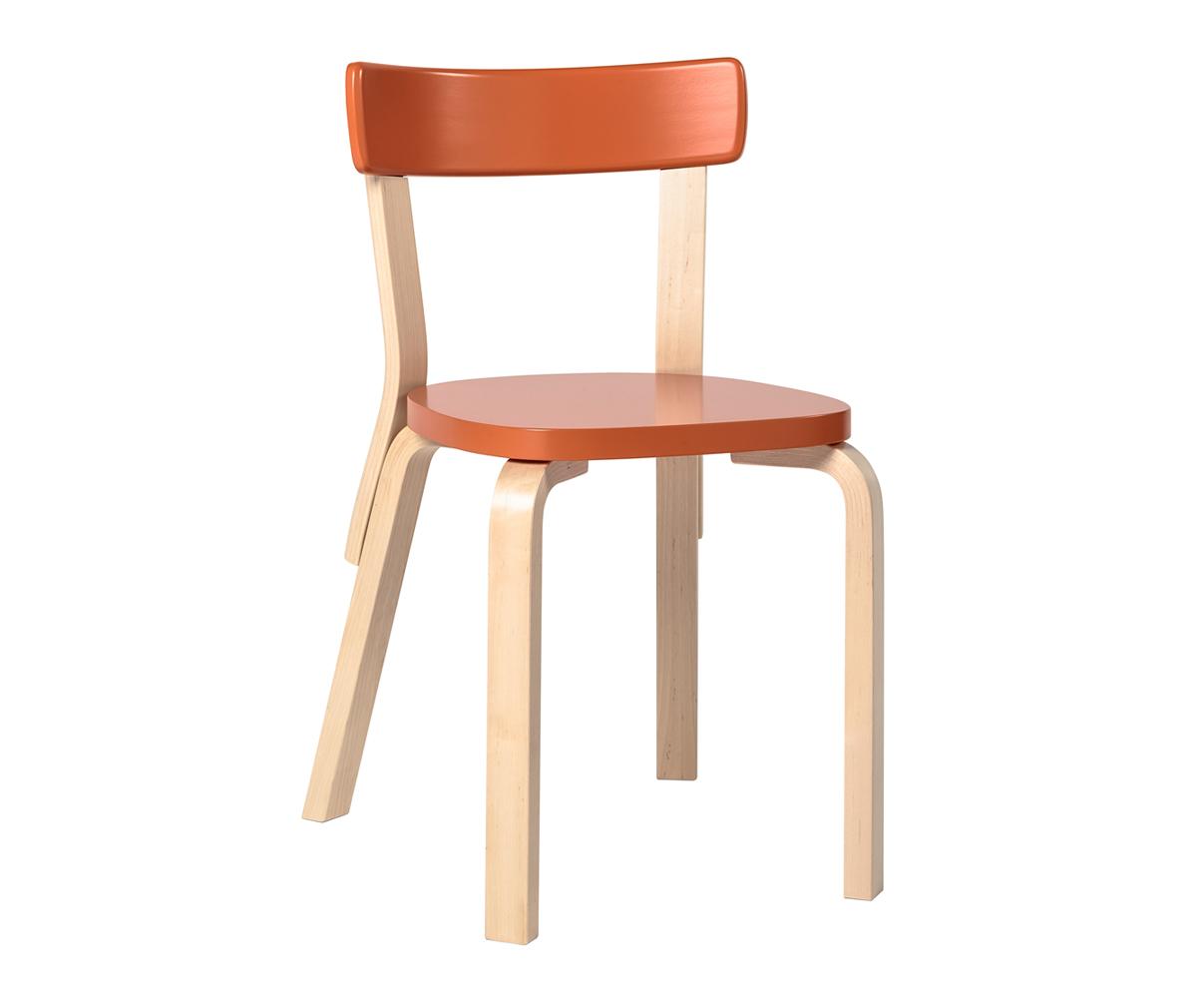Artek 69 tuoli, koivu oranssi  Vepsäläinen